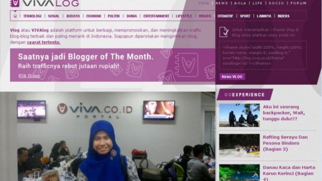 sumber: Screenshot Viva Log