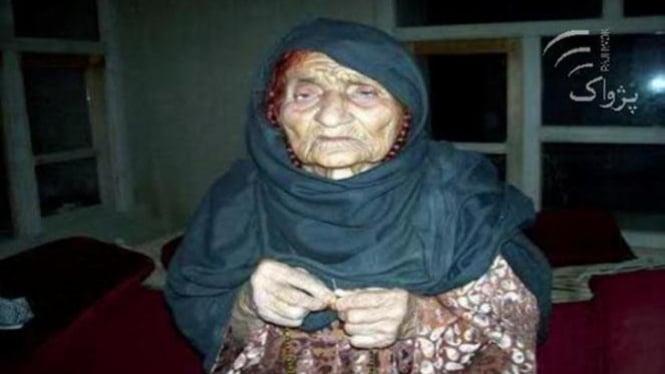 almarhum Hasano, wanita tertua asal afghistan