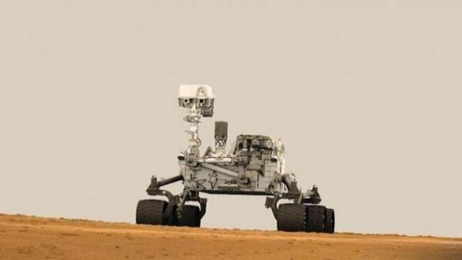 Akhirnya robot ini mulai menggali permukaan Mars
