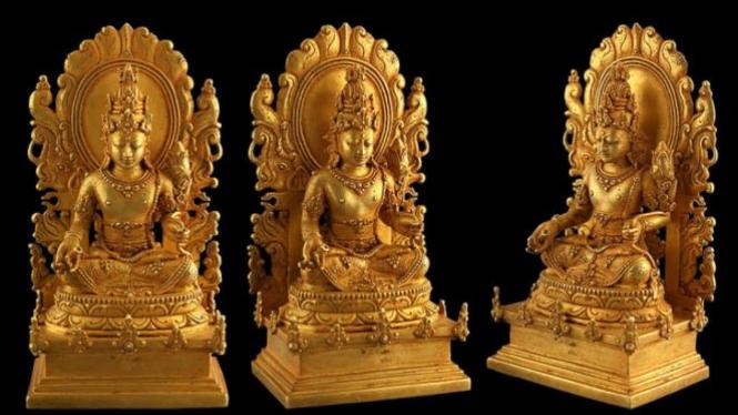 Arca Emas Pendarmaan Raja Masa Kerajaan Majapahit