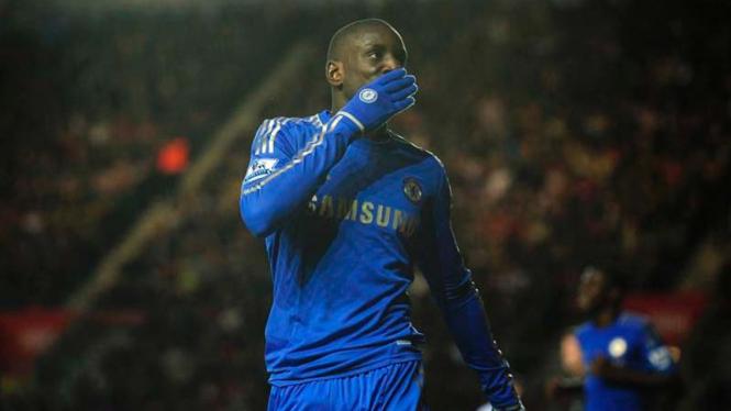 Demba Ba debut perdana bersama Chelsea saat melawan Southampton