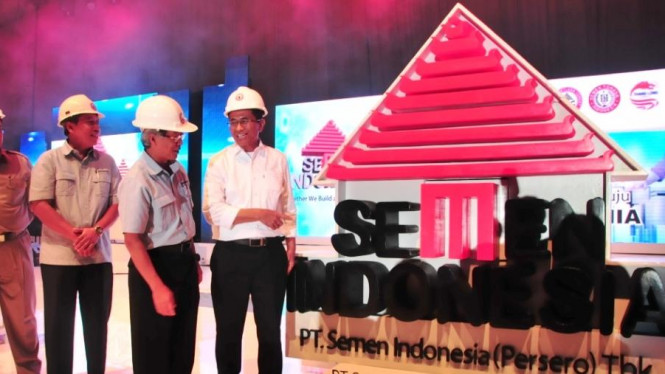 Menteri BUMN, Dahlan Iskan resmikan Semen Indonesia