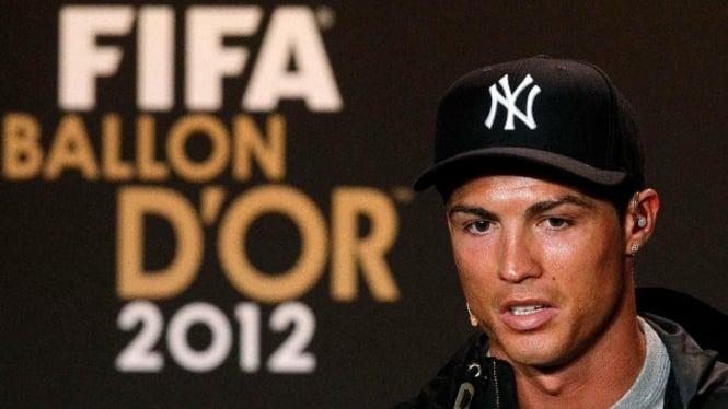 Cristiano Ronaldo pada penghargaan Ballon d'Or 2012