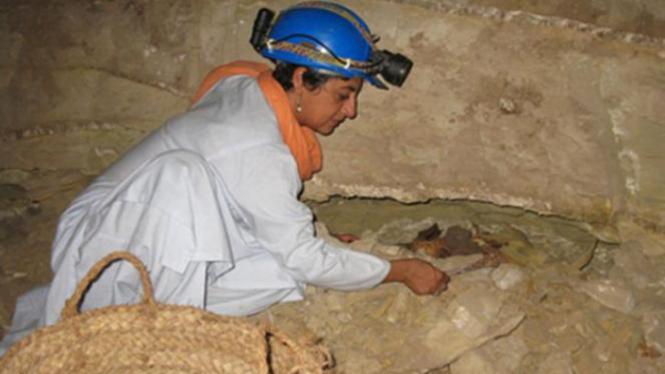 Penggalian mumi hewan di Catacomb