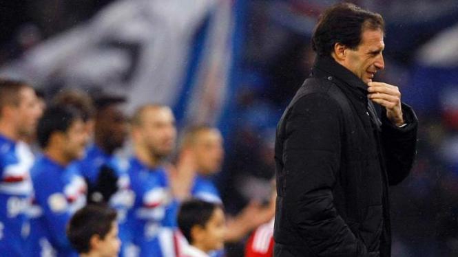 Pelatih AC Milan Massimiliano Allegri