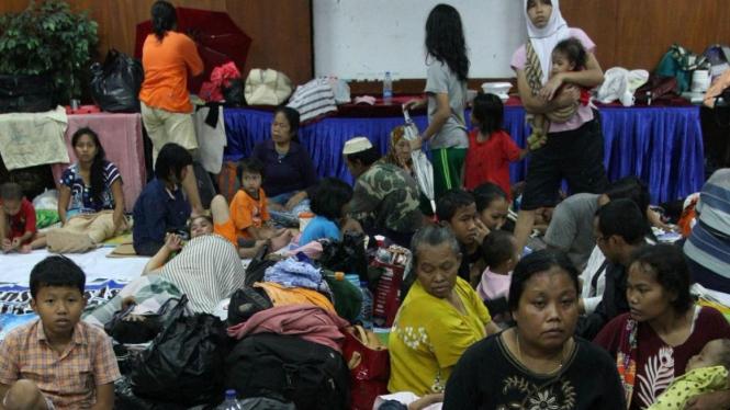 pengungsi banjir Jakarta