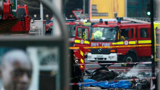 Lokasi jatuhnya helikopter di London