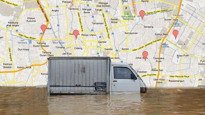 Lokasi Banjir Jakarta 2