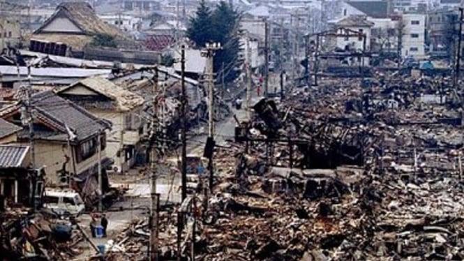 Gempa bumi di Kobe Jepang 17 Januari 1995
