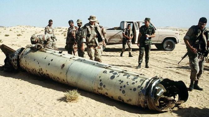 Rudal Scud asal Irak hancur setelah dilumpuhkan rudal Patriot AS