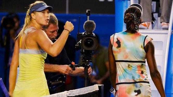 Maria Sharapova usai mengalahkan Venus Williams di Australian Open