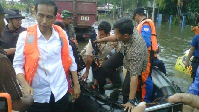 Jokowi pantau banjir di kawasan pluit