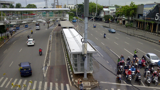 Lalu lintas di Kawasan Senen