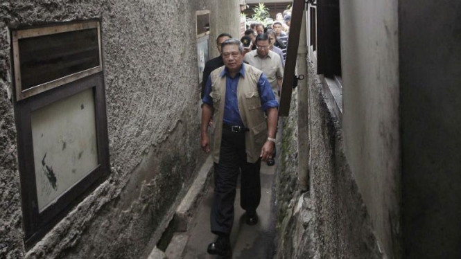 Presiden SBY tinjau lokasi banjir di Jatinegara