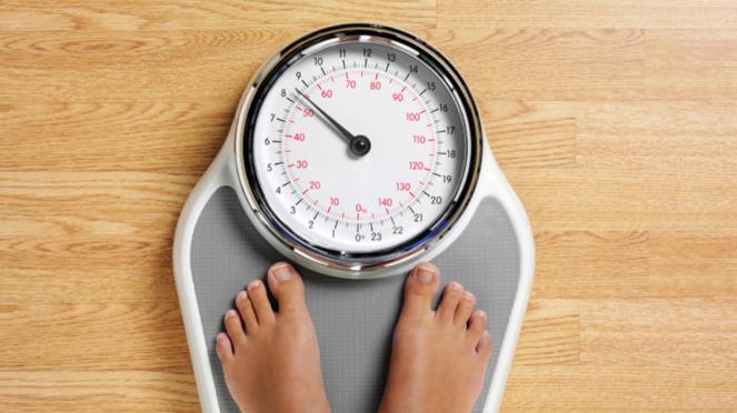 Timbangan berat badan.