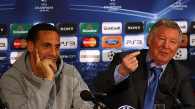 Rio Ferdinand dan Sir Alex Ferguson