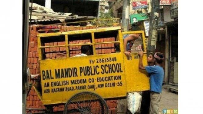 Bus sekolah ala India