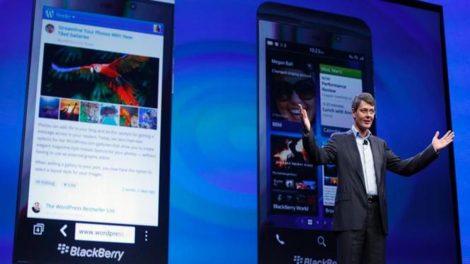 CEO RIM perkenalkan gadget terbaru berbasis BlackBerry 10