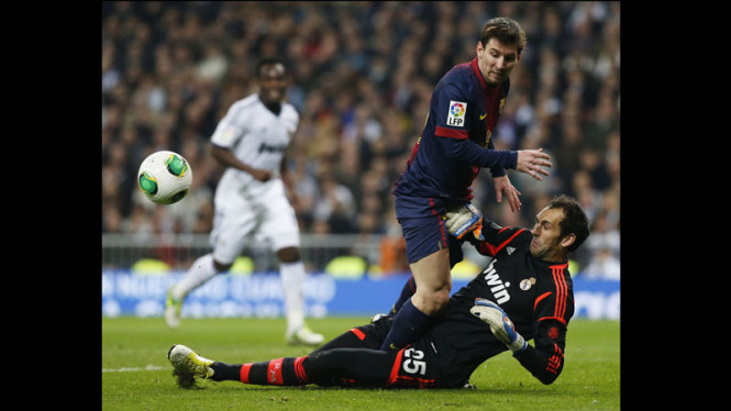 Real Madrid vs Barcelona Semifinal Piala Raja Leg Pertama