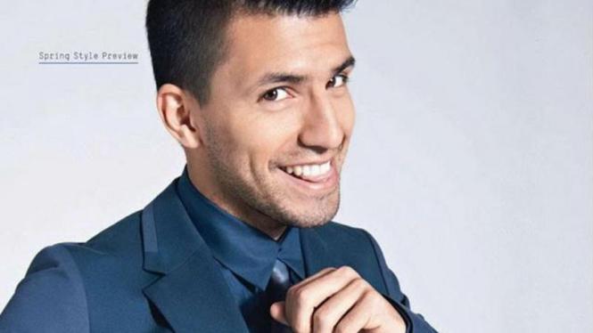 Sergio Aguero jadi model majalah Esquire