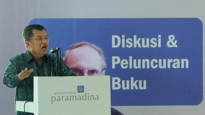 Jusuf Kalla saat acara diskusi