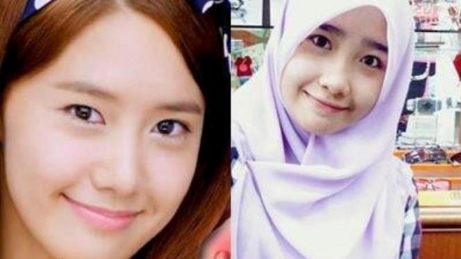 YoonA SNSD dan kembarannya asal Malaysia