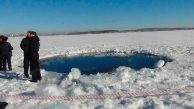 Lokasi jatuhnya meteor di Rusia