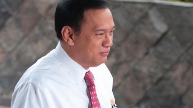 Menteri Keuangan Agus Martowardojo memenuhi panggilan KPK