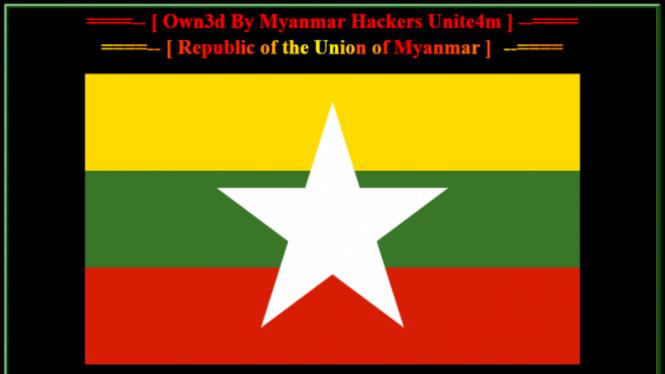 Tampilan web / blog yang di-deface hacker Myanmar.