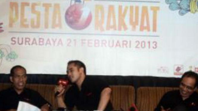 Ardy Bakrie gelar konferensi pers HUT ke-5 tvOne