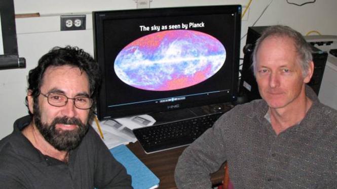 Philip Lubin (kiri) dan Peter Meinhold
