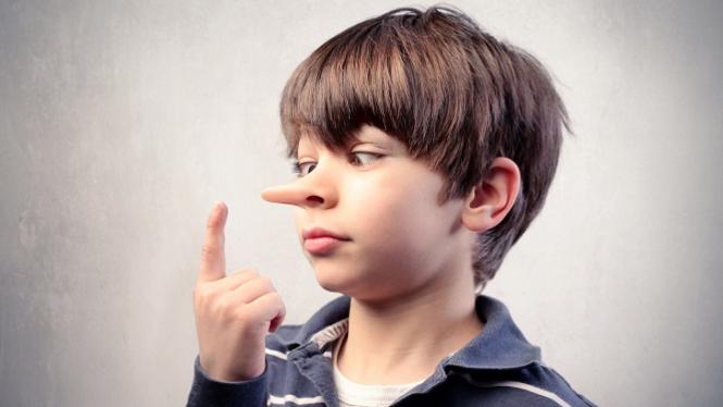 Ilustrasi anak berbohong