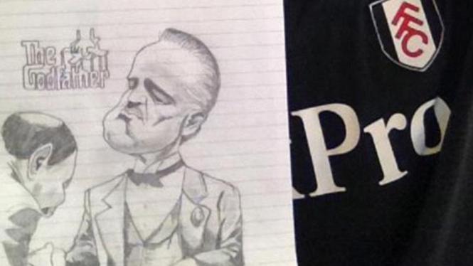 Karikatur Marlon Brando buatan Dimitar Berbatov