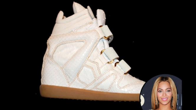 Sepatu kulit Beyonce Knowles