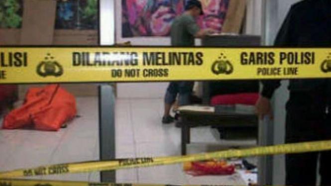 Lokasi penemuan korban mutilasi di Pademangan, Jakarta Utara