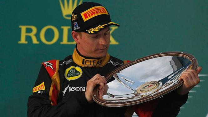 Kimi Raikkonen juarai GP Australia 2013