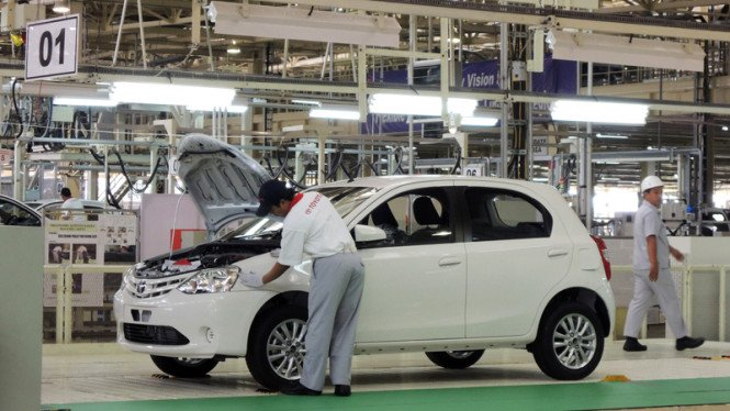 Ilustrasi pabrik Toyota.