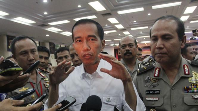 Jokowi Menjadi Pembicara di Rakernis Korlantas Polri