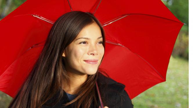 Ilustrasi Wanita dengan payung