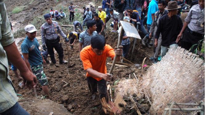 Longsor Cililin Kabupaten Bandung