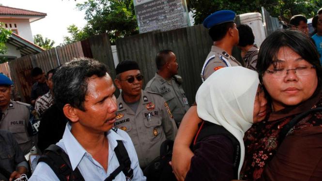 Ilustasi evakuasi jemaah Ahmadiyah.