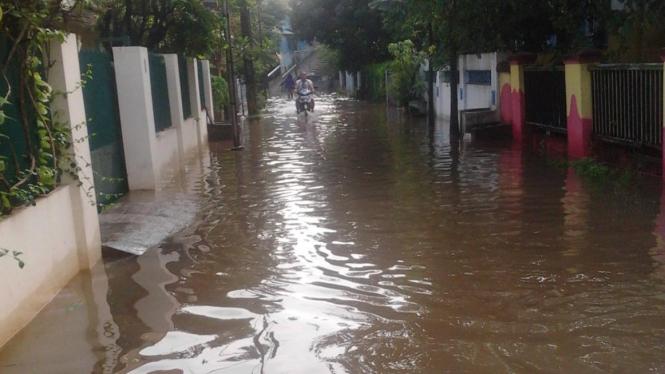 Perumahan Antilop Jatibening II Bekasi banjir