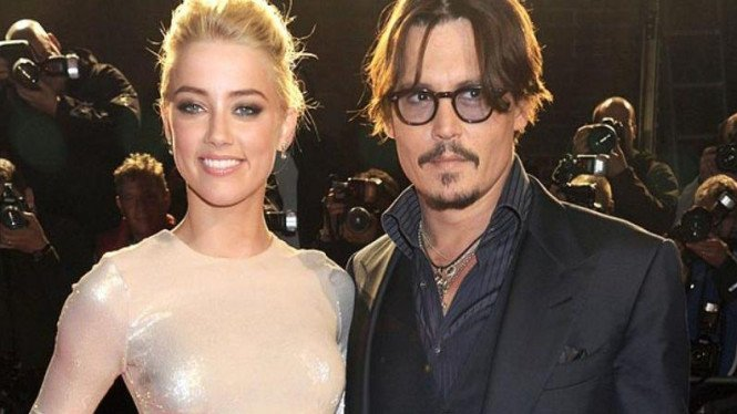 Johnny Depp dan Amber Heard.