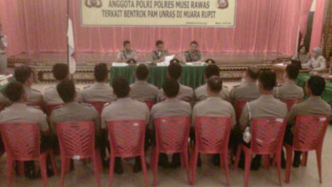 20 anggota polisi Musi Rawas jalani sidang disiplin