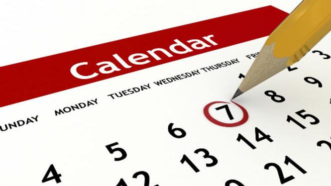 Kalender masehi. Foto ilustrasi.