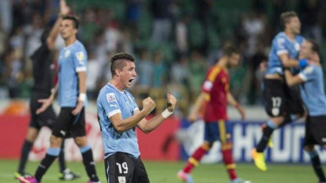 Timnas U-20 Uruguay usai mengalahkah Spanyol