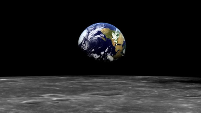 Penampakan Bumi dan Bulan dari Apollo.