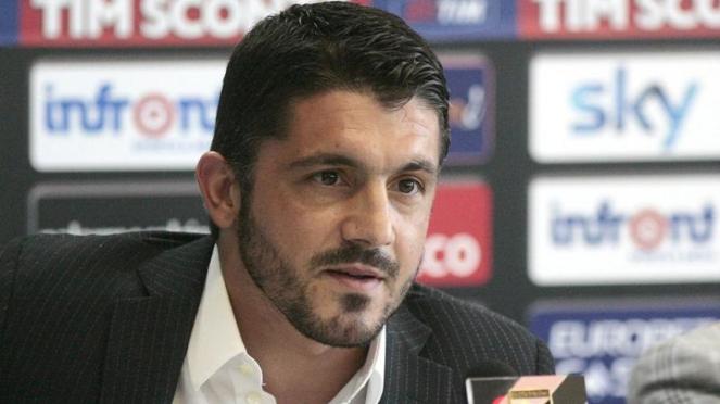 Pelatih anyar AC Milan, Gennaro Gattuso