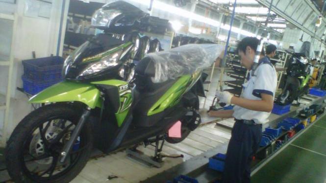 Pabrik TVS Motor Company Indonesia di Karawang, Jabar
