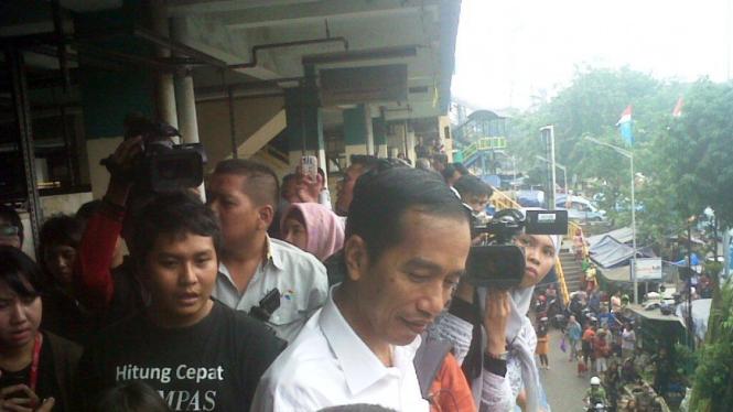 Jokowi di Tanah Abang, Jakarta Pusat.